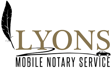 Lyons North Bay Mobile Notary Service Napa 707-529-0525